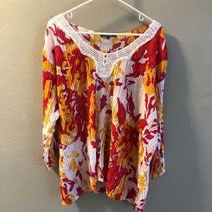 Belissimo Women's size 3X print blouse